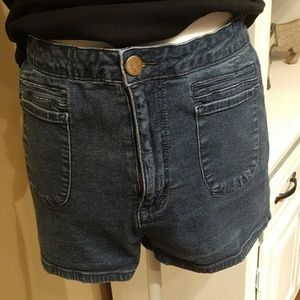 BDG high rise jean shorts